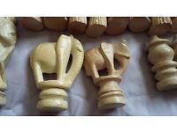 Luxury hand carved soapstone chess pieces
