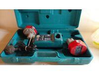 Makita drill box, batteries & charger
