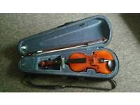 Half (1/2) size Violin, Bow, Case and strings