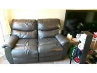 2 seat leather sofa bargain!!!!!!!!!!!