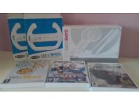Wii Accessories and 3 Games