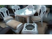 Cane rattan conservatory furniture set