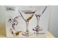Libbey Embassy Cocktail Glasses set of 4
