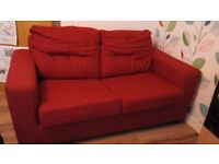 Red Sofa Bed from DFS Sofa-bed 2 Seater