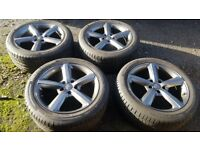 "4x 20"" Audi Q7 alloy whells with 275/45R20 tyres"