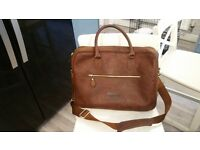 Brown Leather Laptop bag excellent condition as new
