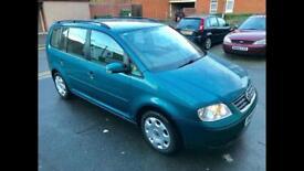 2003 Vw Touran Se Fsi 1.6 Petrol - 1 Former Keeper - 2 Keys - 7 Seats - 3 Months Warranty - 6 Speed