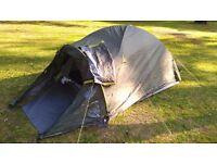 Camping tent + camping bed + sleeping bag