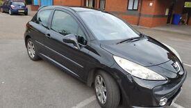 peugeot 207 1.6 hdi sport diesel alarm alloys in black