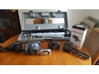 Canon EOS1000, 35mm Scanner 1 week old £54 Amazon, Telescope package Fuji instant, 2 more 35mm