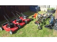Wanted petrol tools lawnmowers strimmers hedgecutters chainsaws presuure washers etc...