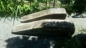 Heavy wooden ramps