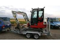 Digger Hire Self drive or operated