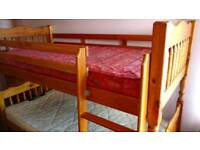 Single Wooden Bunk Bed For Sale