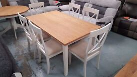 JULIAN BOWEN DAVENPORT DINING TABLE & 6 CHAIRS FREE DELIVERY DERBY NOTTINGHAM View Collect Welcome