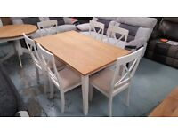 JULIAN BOWEN DAVENPORT DINING TABLE 6 CHAIRS FREE DELIVERY DERBY NOTTINGHAM View Collect Welcome