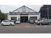 running business for sale huge car workshop MOT permission and ebay parts shop tyres 4 ramps tools