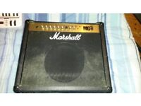 Marshall MG100FX Guitar Amplifier, Footswitches Included