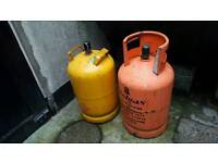 Two gas cylinders