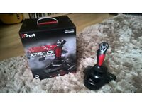 Trust GXT 555 Predator Joystick With Vibration Feedback and 12 Programmable buttons. As new