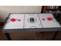 Three in One combo. Air Hockey, Pool Table, Bar Football Table.