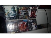 6x PS3 GAMES GOD OF WAR GTA NBA TOM CLANCYS