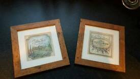 Wood effect picture frames