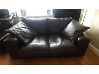 2 & 3 Seater Brown Leathers sofas