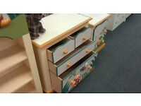 Kids Chest of Drawers with Insect design
