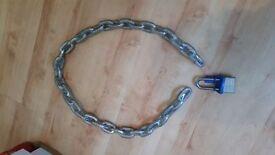 1.40 cm Heavy Duty Security Metal Motorbike Bicycle or Motorcycle Chain Lock Padlock