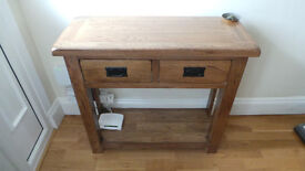Solid Oak Hallway Console and Lounge Table