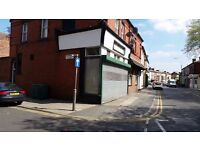 Ground Floor Lock Up Shop and Residential 3 Bed Flat with permission for Hot Food Takeaway.