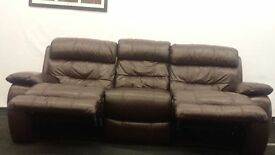 Black Cherry leather sofa 3 seater + 2 seater