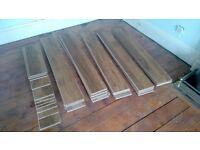 Floor boards natural oak effect