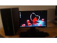 "SSD - HP 8000 Business Elite Desktop Tower Computer PC & BENQ 19"" Monitor Widescreen SAVE £30"