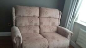 2 Seater Sofa & 2 Chairs - Recliners like New