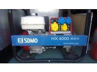 SDMO HX 6000 HONDA ENGINE 5.5KW £550 (£1200 NEW)