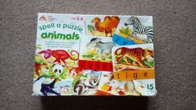 'Spell a puzzle' Animal Jigsaw, 3-6yrs