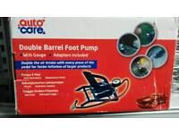 Autocare double barrel footpump