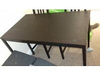 3 ikea black dining tables