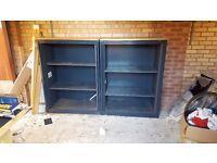 2 garage storage shelving units