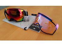 Smith Ski Snowboard Goggles I/O 7 Red Sol-X SP AF Lens + Spare Lens Skiing Snowboarding