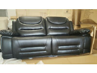 Winter Sale Brand New Premium Recliner Pablo Faux Leather Three Seat/two cushion Sofa