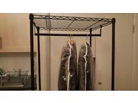 Black clothes rack