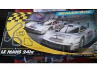 Scalextric 24 hrs le mans track,cars and digital lap counter