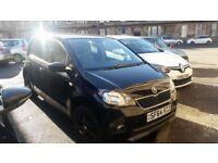 Black Skoda Citigo 5 door, NEW LOW ASKING PRICE! Alloy wheels, tinted back windows, great runner