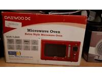 Retro Style Red Microwave Oven