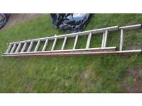 2 sections aluminium ladders 1 x 11ft 6 1 x 10ft 6