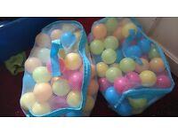2x BAGS OF PLASTIC BALLS