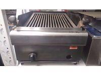 COMMERCIAL LINCAT SINGLE BURNER S/STEEL CHARCOAL GRILL LPG GAS FOR MOBILE CATERING VANS